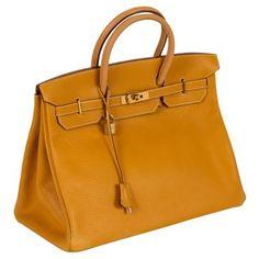 Check out this item at One Kings Lane! Hermès 40cm Clemence Mustard Birkin