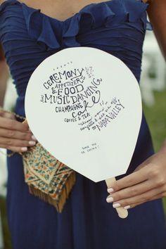 Wedding fan program