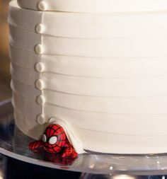 Now how did Spiderman get in the wedding cake?