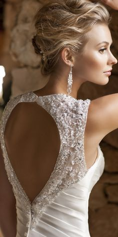 Wedding Dress Edinburgh | Designer Wedding Dress | Wedding Dress Scotland | Ella Bridal in Edinburgh  #back #glitter