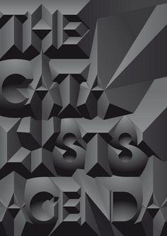 THE CATALYSTS AGENDA / #typography #3D / Michiel Schuurman