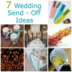 weddingexit sendoff idea