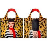 Loqi Water Resistant Reusable Bag #COOL PEOPLE Snake Lady
