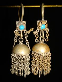 Old Kuchi Tribal Ethnic Jewelry Earrings Bellydance Nomadic Gypsy.  seen some like these a long time ago and kicked myself for not getting them