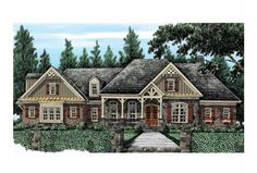 French Country home plan.