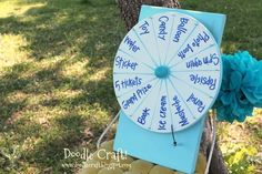 DIY Party Spinner {dry erasable, too!}