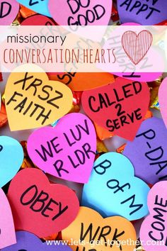 Missionary Mail: Conversation Hearts - Cutest Valentine's Day package with the talk, The Measure of Our Hearts by Elder Marvin J. Ashton