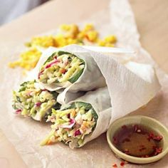 Sweet and Spicy Spring Rolls #Ultimate Tailgate and #Fanatics