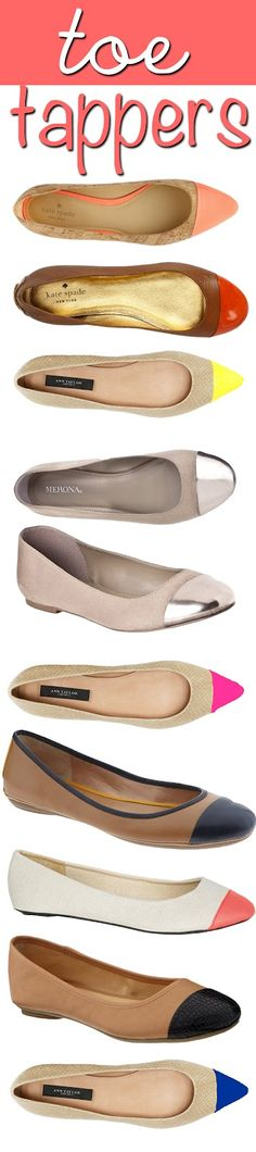 Im loving Capped toe ballet flats!