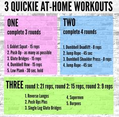 3 Quickie At-Home Workouts