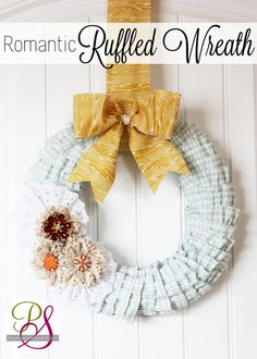 Romantic Ruffled Wreath Tutorial