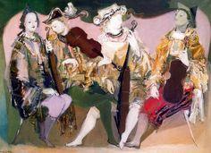 The Musicians, Raúl Soldi. Argentinian (1905 - 1994) - Crecí con sus pinturas. Pintó la Iglesia Santa Ana de Glew (de donde soy oriunda). Adoro su trabajo.