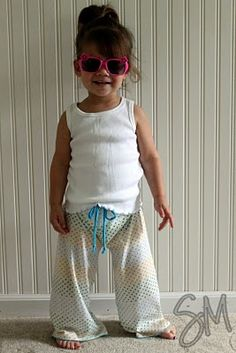 Sewing pants 101... These are adorable!