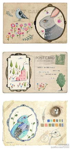 letter, old postcards, postcard art, envelop
