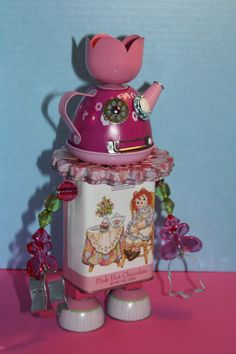 Princess Pink Teapot by mistyr11 on Etsy, $40.00