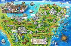 Mapa de los Mayas