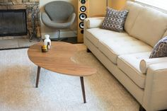 Mid Century Modern Coffee Table Kidney Bean  by SCWoodworker, $249.00