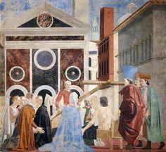 Piero della Francesca, Discovery and Proof of the True Cross, (detail), c. 1460, fresco, (356 x 747 cm), San Francesco, Arezzo