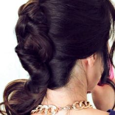 A stunning french twist that can be worn to any occasion.