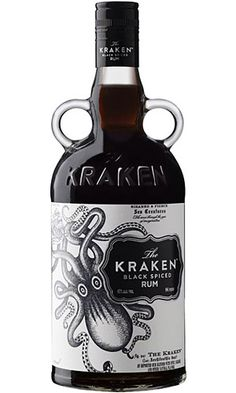 "Kraken Black Spiced Rum  Apart from ""the beast,"" we're generally fans of liquor named after monsters — and Kraken Black Spiced Rum ($22) is no exception. This upscale, but not crazy-expensive, spiced rum is a nice alternative to your normal well-residing rum, and comes in a handsome old-school jug-handled bottle adorned with a label that begs for a spot on the counter instead of being hidden in the cabinet. #rum #alcohol #Kracken"