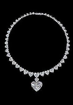 Graff diamond heart necklace