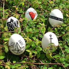 Temporary tattoo's easter egg decoration by Orange Mayonnaise