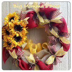 Custom Decomesh Wreaths by BigMommasDoor on Etsy, $79.00