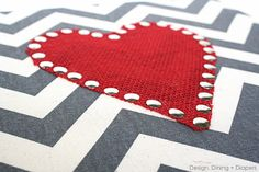 Valentine's Day Canvas Art using Styrofam Sheets Tutorial by Design, Dining + Diapers