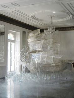 ice ship, boats, art, glass, white, tim walker, sail away, ships, ice sculptures