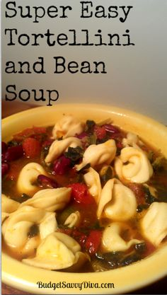Super+Easy+Tortellini+and+Bean+Soup+Recipe