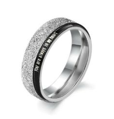 """Stainless Steel Black and Sparkle Silver """"You are always in my heart"""" Matte Finish Couple Lovers Rings for Wedding/Engagement/Promise/Eternity Jewelrywe. $8.99. Width: 6mm for male; 4mm for female. Stainless steel rings for couples/lovers, Matte Finish. You Are Always in My Heart Engraved. Weight: 5g for male; 2.5g for female. List price is for one ring only. Purchase two rings for a matching set."""