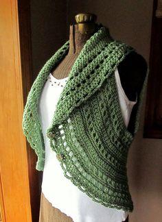 Ladies Vest Crochet Circle Vest or Sleeveless by LazyTcrochet