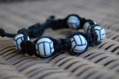 Volleyball bracelet /  Volleyball Jewelry / Volleyball Team / Sports Jewelry / Sports