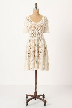 Creamy crocheted dress