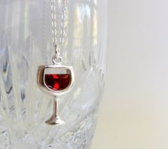 gift, season, wine necklac, wine glass, red wines