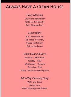 cleaning house schedule, clean and organized home, cleaning a home, house cleaning organization, cleaning schedules, clean hous, cleaning tips schedule, clean schedul, home cleaning and organization
