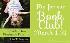 Join the Upside Down Prayers Book Club March 1st