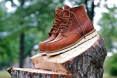 Getting fresh wood with your Red Wing Shoes on