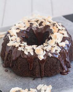 Glazed Chocolate Macaroon Bundt Cake