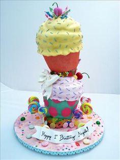 cone cake, cupcak, decorative cakes, colett cake, 1st birthday cakes, photo galleries, 1st birthdays, ice cream cones, eat cake