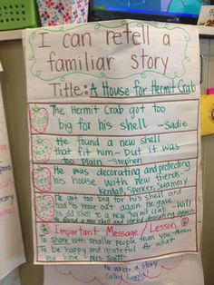 First, Next, Then, Last (Important Message/Lesson) for Common Core Standard RL.3 anchor charts