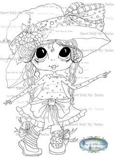 INSTANT DOWNLOAD Digital Digi Stamps Big Eye Big Head Dolls Digi  My - Besties img925 Bestie By Sherri Baldy