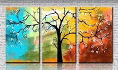 Multi Panals Hand Painted Mordern Art Oil on Canvas - Free Shipping #03734 $98