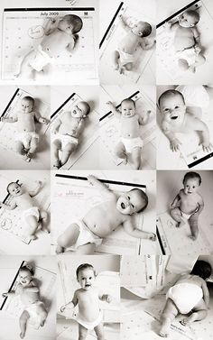 babi pictur, idea, first year photos, monthly baby photos, baby pictures, growth chart, kid, calendar, month babi
