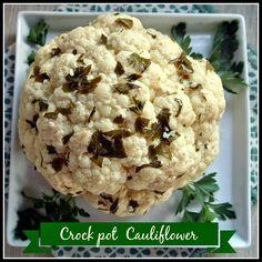 Whole Roasted Cauliflower in the Crock Pot #slowcooker #crockpot