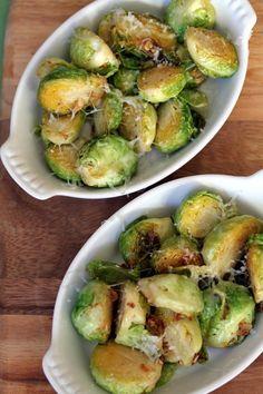 Lemon Garlic Brussels Sprouts  @m.'s Gaby Cooking - Gaby Dalkin