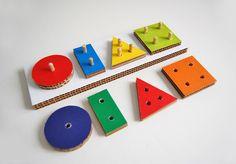 Cardboard geometry sorting board