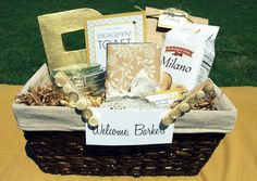 Rustic Welcome Baskets for guests