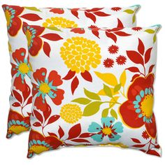 Who would have thought that outdoor throw pillows could be so cute?!