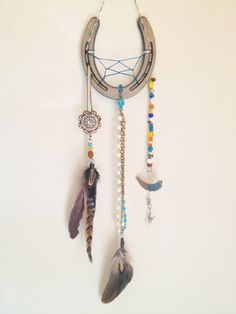 Iron and Pearls Lucky Horseshoe Dreamcatcher by TheLoveliestBird, $47.00